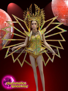 CHARISMATICO Gold show time diva Madonna abstract show time costume set