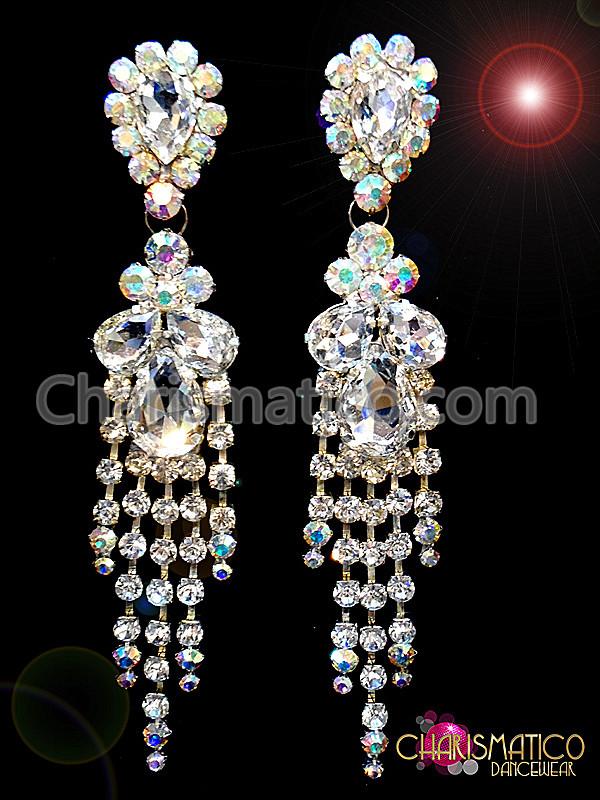 Lovely Iridescent Divas Crystal Silver Rhinestone