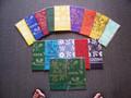 Top left to right designs: Hibiscus, Pineapple, Bamboo, Tiki, Hibiscus, Bamboo x3, Hibiscus Middle left to right designs: Pineapple, Bamboo, Hibiscus, Bamboo, Hibiscus