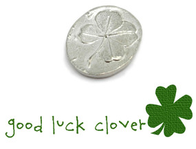 good luck four leaf clover pocket token charm