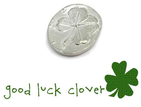 good luck four leaf clover pocket token charm