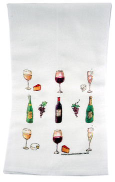 wine lover  flour sack towel kitchen gift for cook baker mom mothers day grandma
