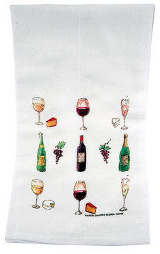 Flour Sack Towel Wine