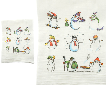 snowmen snowman winter christmas holiday flour sack towel kitchen gift for cook baker mom mothers day grandma