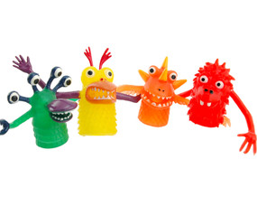 funny finger monster cute birthday gift for little boy girl finger puppet