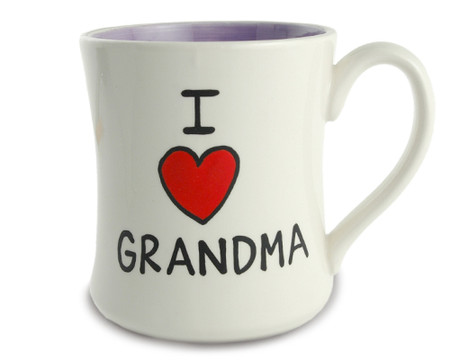 i love heart grandma ceramic coffee tea mug gift mothers day