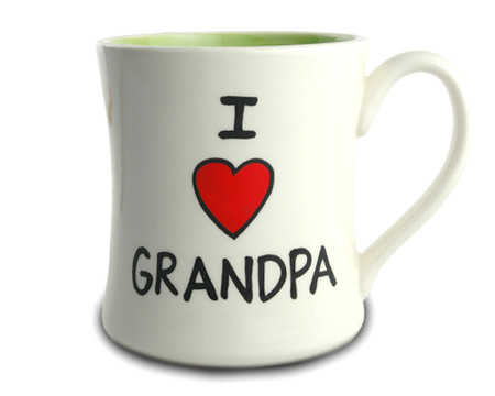 i love heart grandpa ceramic coffee mug gift for fathers day birthday