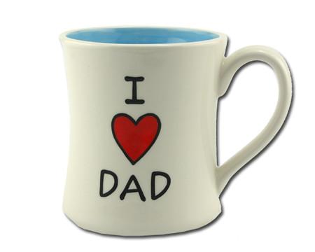 i love heart dad ceramic mug fathers day birthday gift