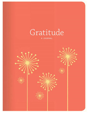 hardcover orange gratitude journal book gift for mom mother girlfriend sister