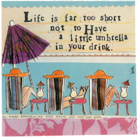 life is far too short napkins