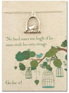 soaring bird necklace
