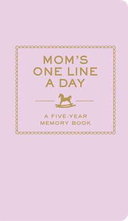 moms one line a day journal diary record book pink 5 five year memory