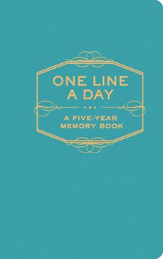 one line a day journal book diary for busy person mom dad