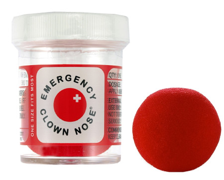 emergency clown nose red foam gift for someone that needs a laugh