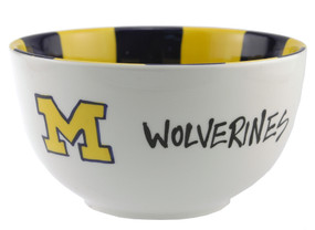 university of michigan u of m ann arbor small ceramic bowl maize blue