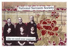 national sarcasm society magnet