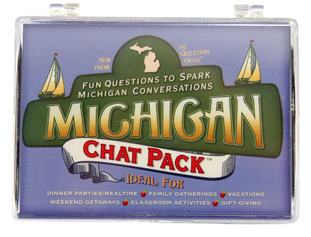 chat pack unique conversation michigan great lakes detroit theme game great stocking stuffer fun questions to ask people