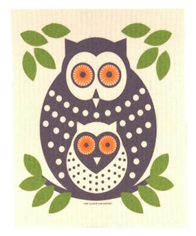 owl swedish dishcloth