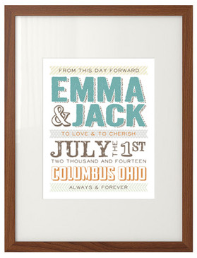 custom wedding date print