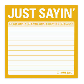 just sayin sticky post it notes notepad cute gift for office co worker