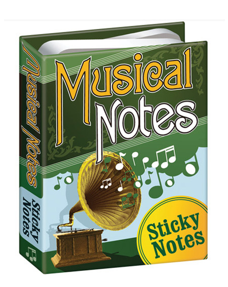 musical notes sticky post it notes set gift for music lover teacher