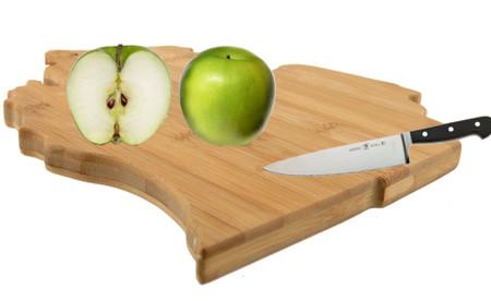 state of michigan bamboo cutting serving board cute kitchen accessory gadget tool