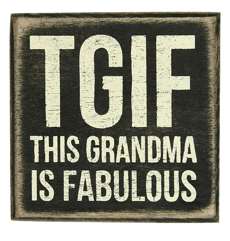 Nice Tgif This Grandma Is Fabulous Gift For Grandmother Mothers Day Rustic  Wooden Home Decor Sign