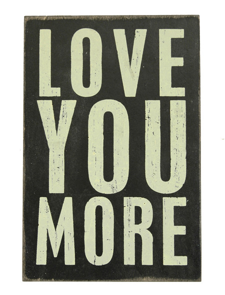 love you more inspirational sentimental wooden postcard gift for mom dad mothers day fathers day boyfriend girlfriend son daughter