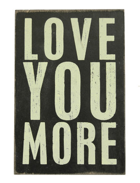 love you more wooden postcard