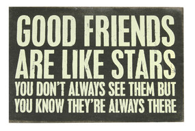good friends  wooden postcard