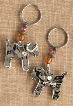 i love heart my dog cute keychain key ring gift for dog lover owner mom girlfriend grandma whimsical pet