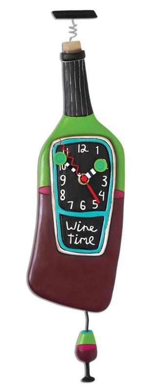 corked wine bottle pendulum clock great gift for wine lover mom friend red wine white wine michelle allen designs