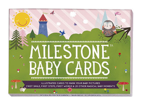 milestone baby cards record baby first words step food