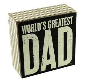 world's greatest dad box sign