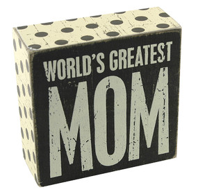 worlds greatest mom rustic vintage wooden box sign home decor gift mothers day birthday