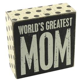 world's greatest mom box sign