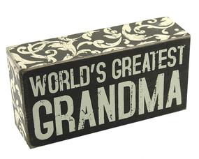 world's greatest grandma box sign