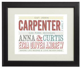 great personalized family gift custom print