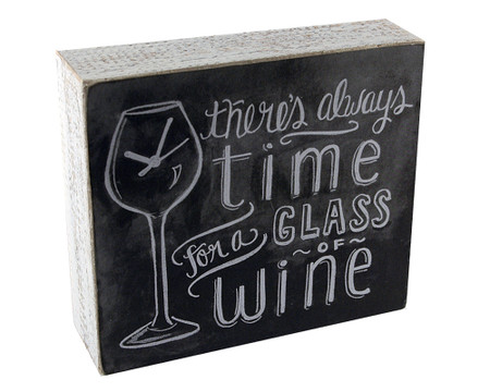 theres always time for a glass of wine rustic wooden box sign wall art great gift for wine lover mom girlfriend