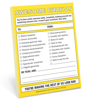 awesome citation nifty notepad