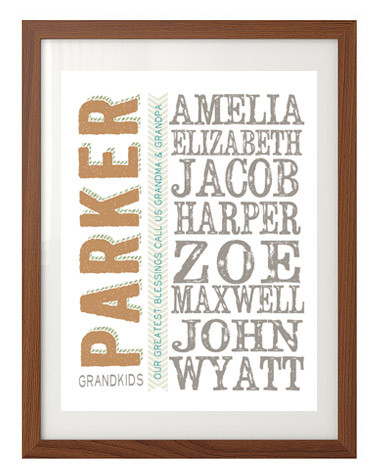 custom personalized gift for grandparents