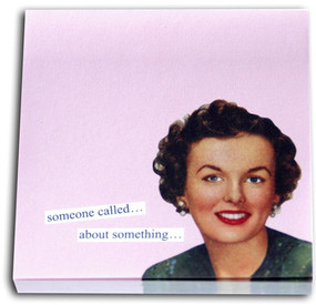 someone called about something pink funny humorous hilarious retro vintage art sticky notes post it pad cute gift for co worker home office