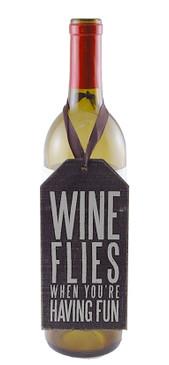 wine flies when youre having fun cute whimsical wine bottle tag hostess girlfriend gift