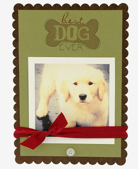 best dog ever handmade frame bone scallop great gift for pet owner