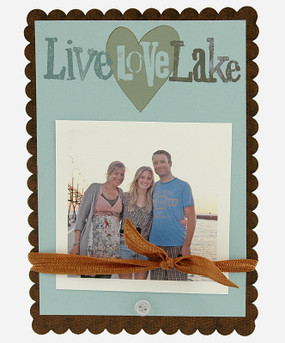 live love lake heart frame vacation summer photo frame handmade in usa souvenir