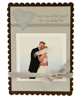 you have my whole heart for my whole life wedding anniversary engagment instagram photo picture scallop heart frame elegant bridal wedding shower gift