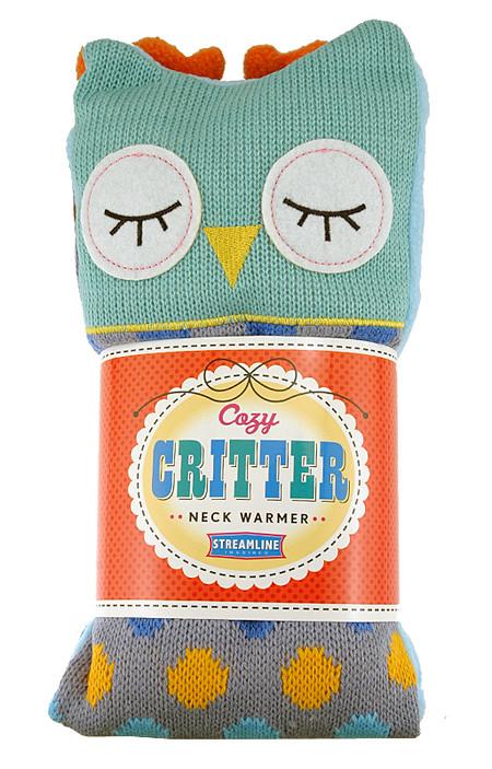 aromatherapy lavender owl neck warmer