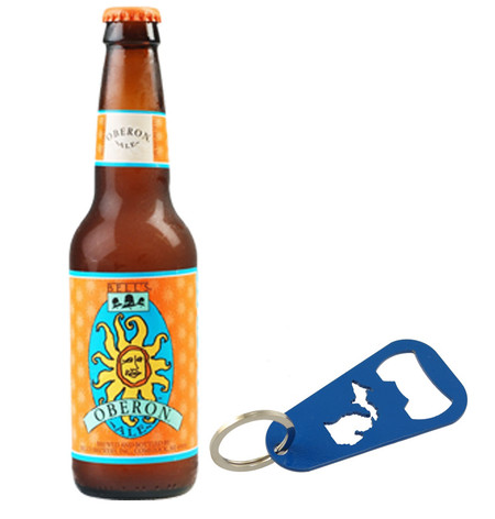 michigan great lakes state detroit beer bottle opener keyring keychain made in michigan souvenir gadget bar