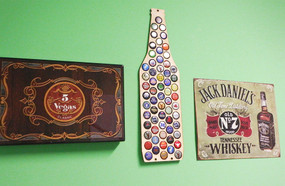 beer bottle beer cap trap cool gift for dad husband guy boyfriend beer drinker lover bar decor
