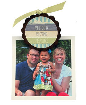 blessed beyond measure clip fridge photo magnet cute whimsical home decor gift girlfriend wife inspirational